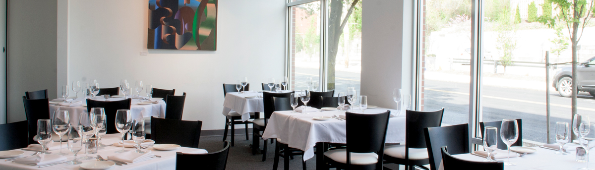 Beautiful space, floor to ceiling windows at Senti Restaurant